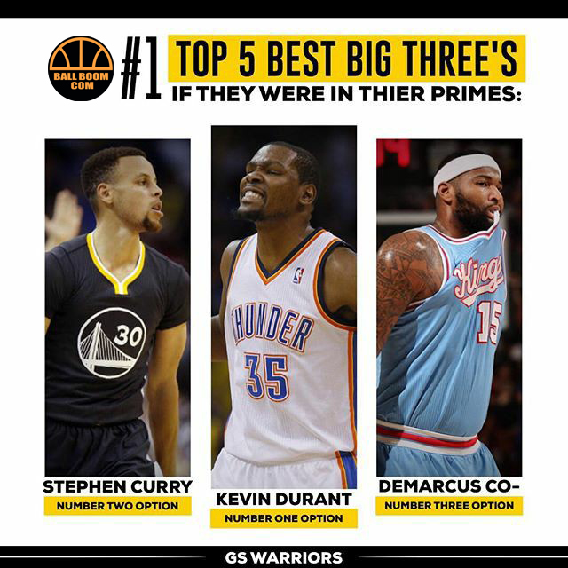 TOP 5 best big three's,if they were in thierprimes