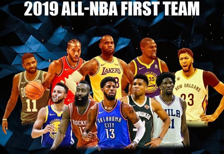 Predicting The All-NBA Teams For The 2018-19Season